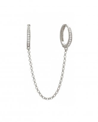 Chain hoops silver
