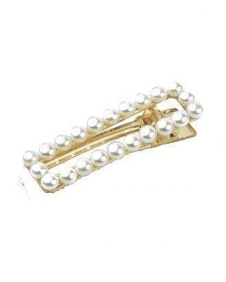 Square pearl hair clip