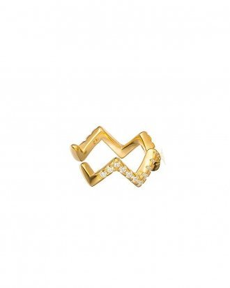 Zigzag ear cuff gold