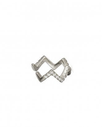 Zigzag ear cuff silver