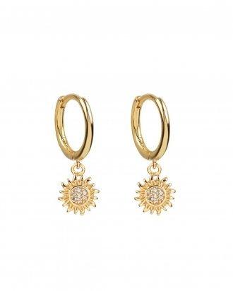 Sun hoops gold