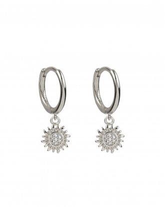 Sun hoops silver