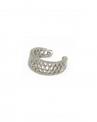 Refined ear cuff silver
