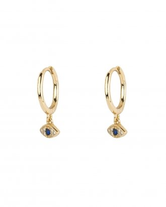 Eye cz gold hoops