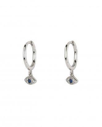 Eye cz silver hoops