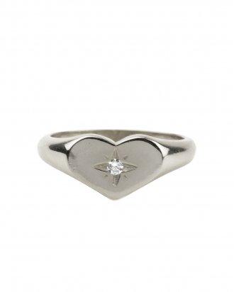 Heart signet silver