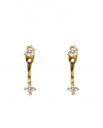Cz ear jacket gold