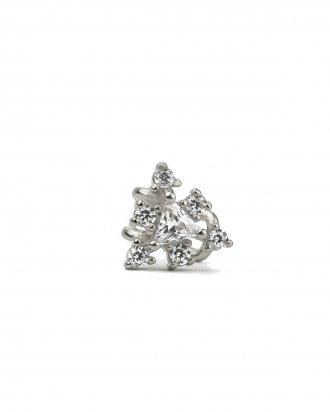 Triangle cuff silver