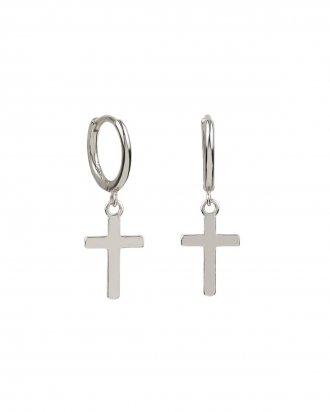 Cross hoop silver