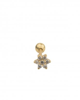 Flower piercing gold
