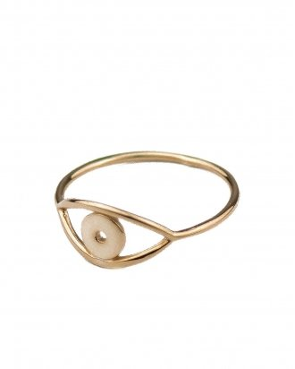 Eye ring gold