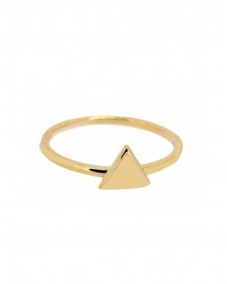 Triangle ring gold