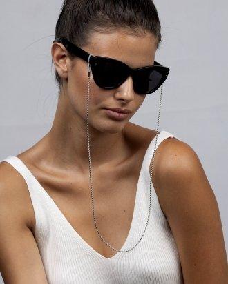 Love glasses chain silver