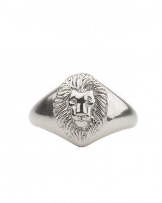 Lion signet silver