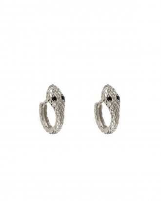 Ophidia silver hoops