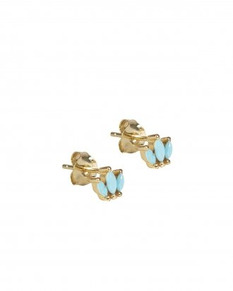Turquoise studs gold