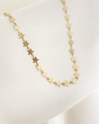 Star choker gold