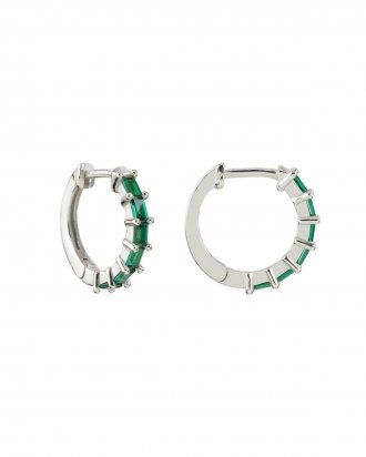 Swan emerald silver