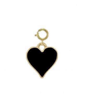 Black heart charm