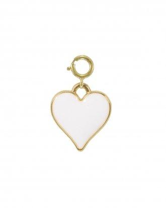 White heart charm