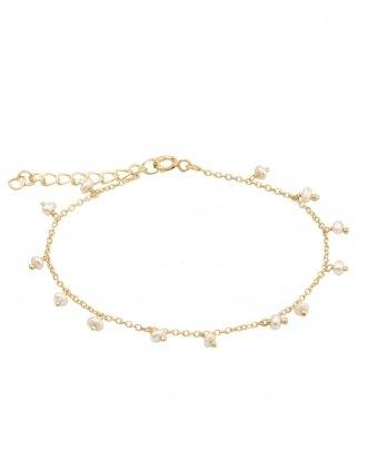 Dangling pearl gold