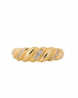 Cz braid gold